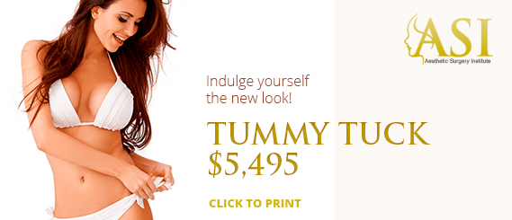 A special offer of $5495 for a tummy tuck at Aesthetic Surgery Institute, Houston (TX).
