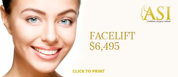 A special offer of $3995 for a breast implant at Aesthetic Surgery Institute, Houston (TX).